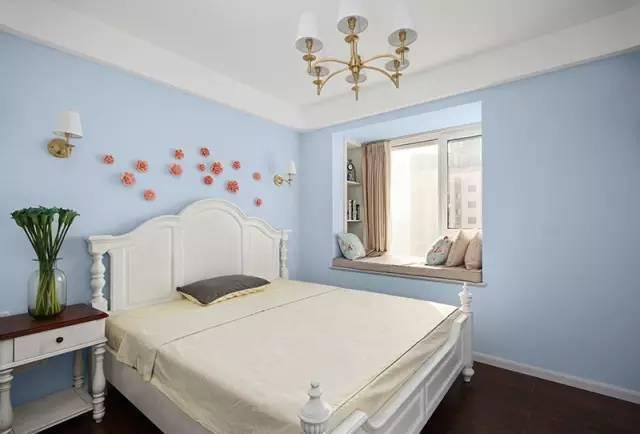 简约 欧式 美式 现代 二居 三居 混搭 田园 简欧 卧室图片来自实创装饰晶晶在80平悠闲美式风格的分享