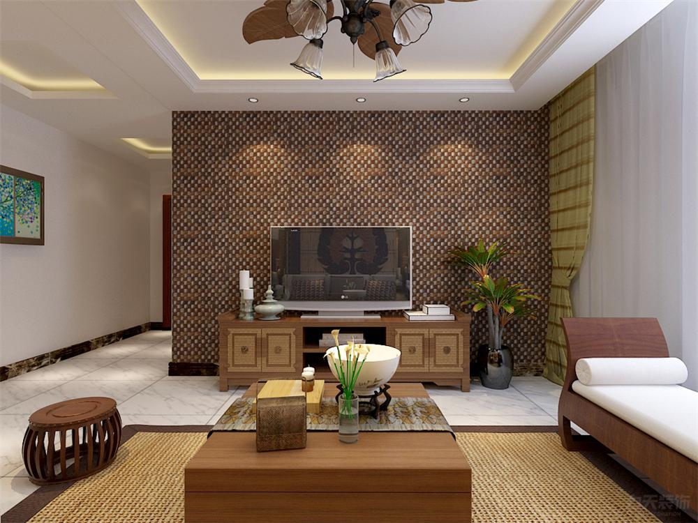 二居 东南亚 收纳 小资 客厅图片来自阳光力天装饰在东南亚-奥莱城-109㎡的分享