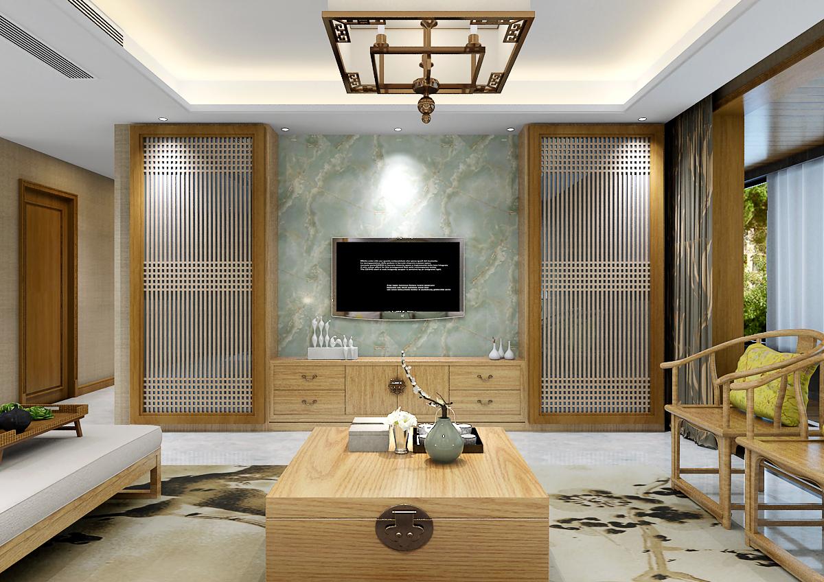 客厅图片来自乐豪斯装饰马志在盛邦大都会新中式装修效果图的分享