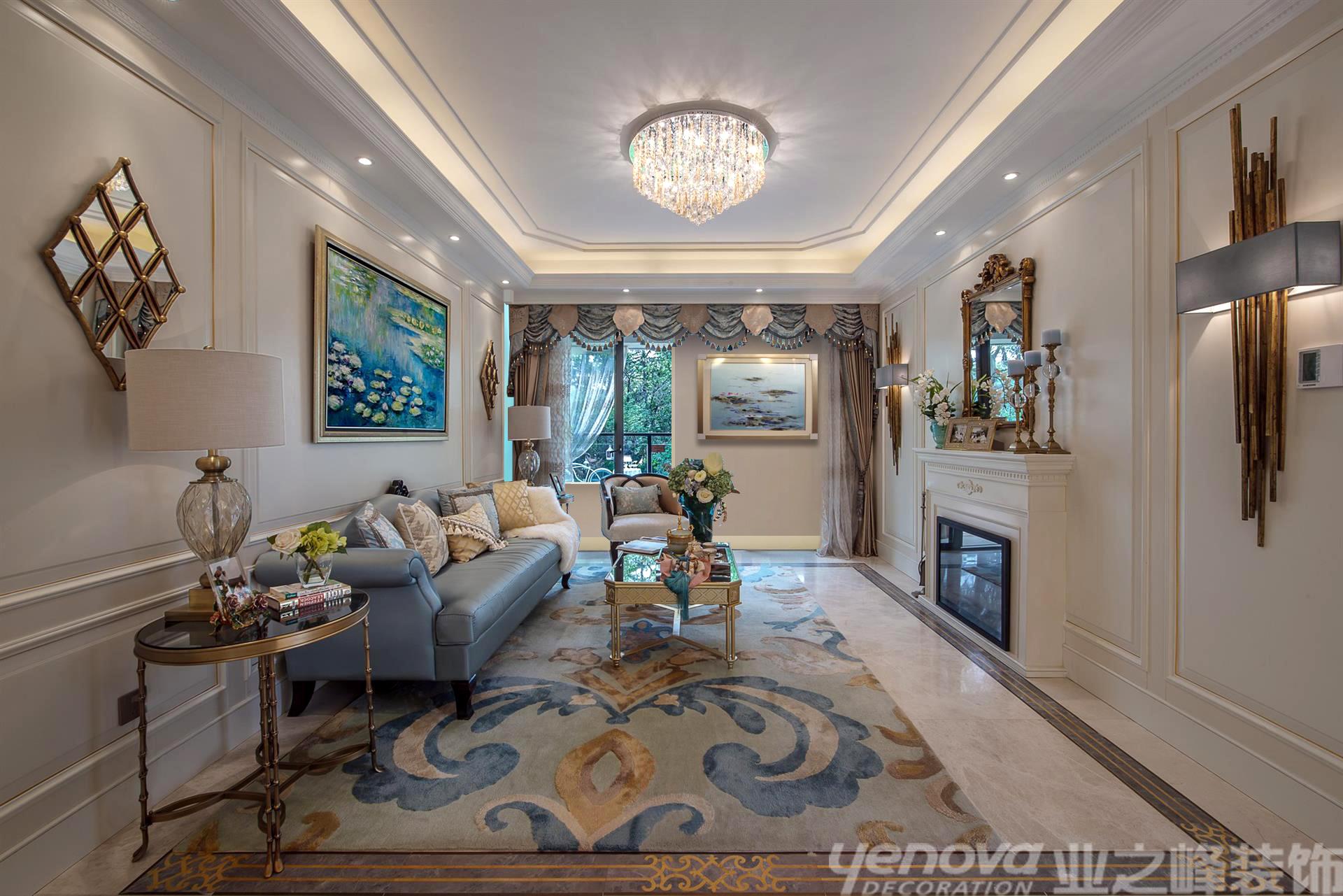 美式风格 壁炉 三居 海边 客厅图片来自青岛业之峰官方客服--小万在晓港名城 121平 美式风格的分享