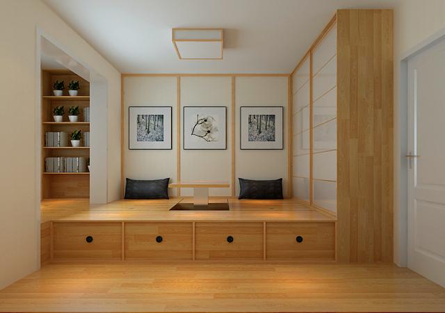 三居 日式 收纳 白领 书房图片来自成都天伦美装饰在绿地城-日式的分享
