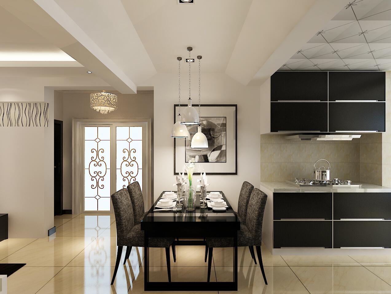 二居 澳海澜庭 现代风格 餐厅图片来自百家设计小刘在澳海澜庭85平现代风格全包65000的分享