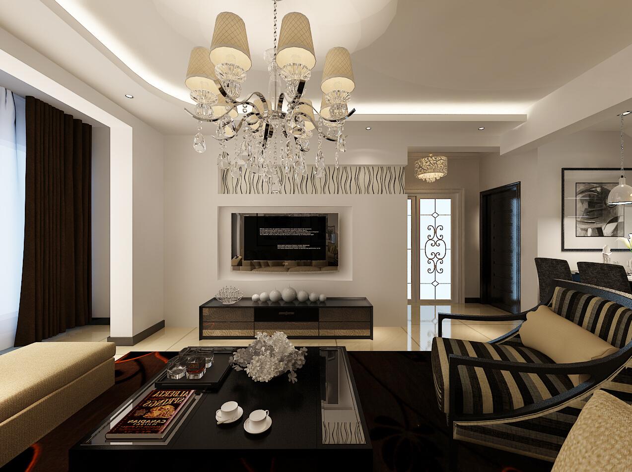 二居 澳海澜庭 现代风格 客厅图片来自百家设计小刘在澳海澜庭85平现代风格全包65000的分享