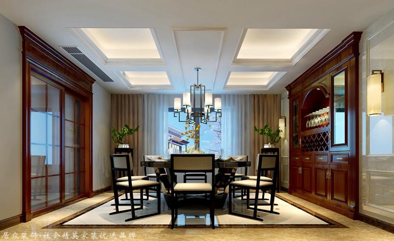 中式 别墅 餐厅图片来自杭州居众装饰集团设计院在吉祥半岛 -中式-320平的分享
