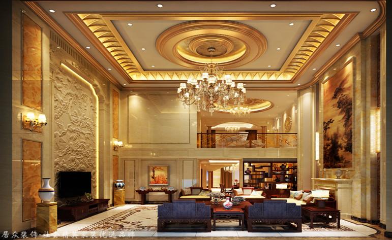 客厅图片来自昆明居众装饰设计工程有限公司在公园1903-新古典风格-530㎡的分享