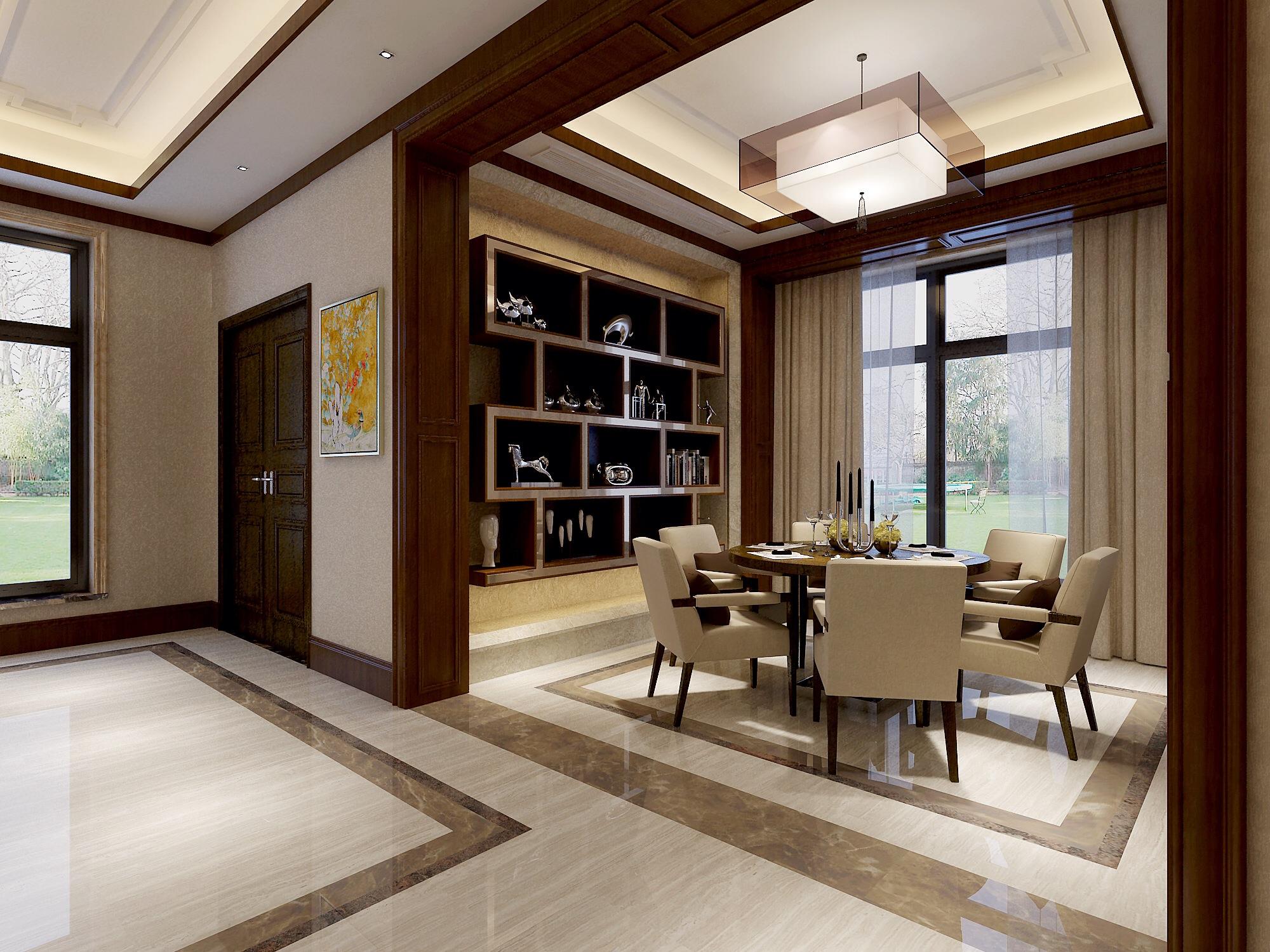 三居 别墅 餐厅图片来自武汉生活家在新中式风格的分享