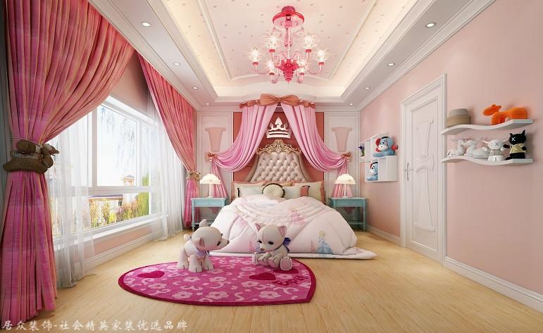 欧式 复式 卧室图片来自厦门居众装饰设计工程有限公司在紫金家园-欧式风格-198㎡的分享
