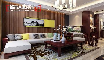 晋阳湖壹号190平米设计中式三居