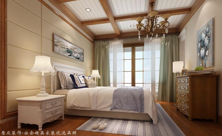 地中海 复式 卧室图片来自杭州居众装饰集团设计院在凯德龙湾-地中海风格-243平的分享