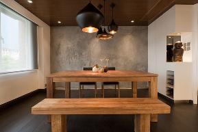 欧式 北欧 简约 现代 温馨 西安 装修 设计 餐厅图片来自翼森设计在一屋一风情的分享