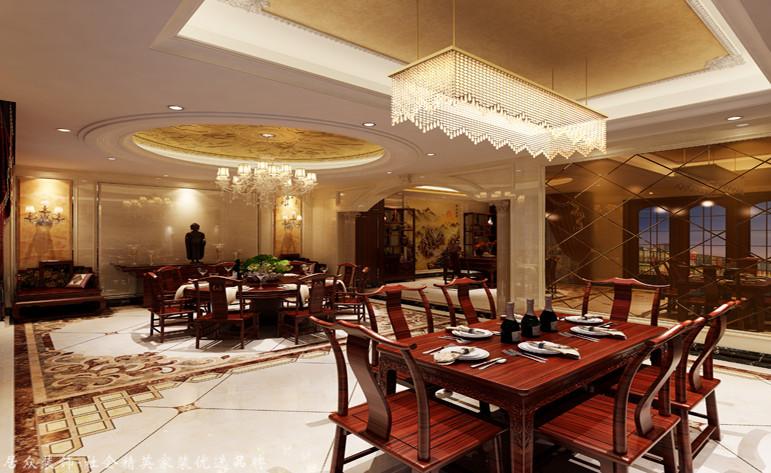 餐厅图片来自昆明居众装饰设计工程有限公司在公园1903-新古典风格-530㎡的分享