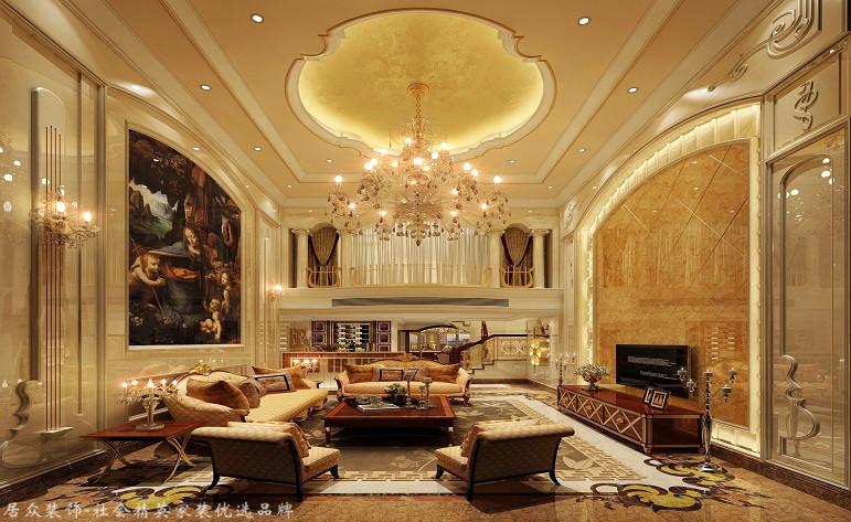 欧式 复式 客厅图片来自厦门居众装饰设计工程有限公司在紫金家园-欧式风格-198㎡的分享