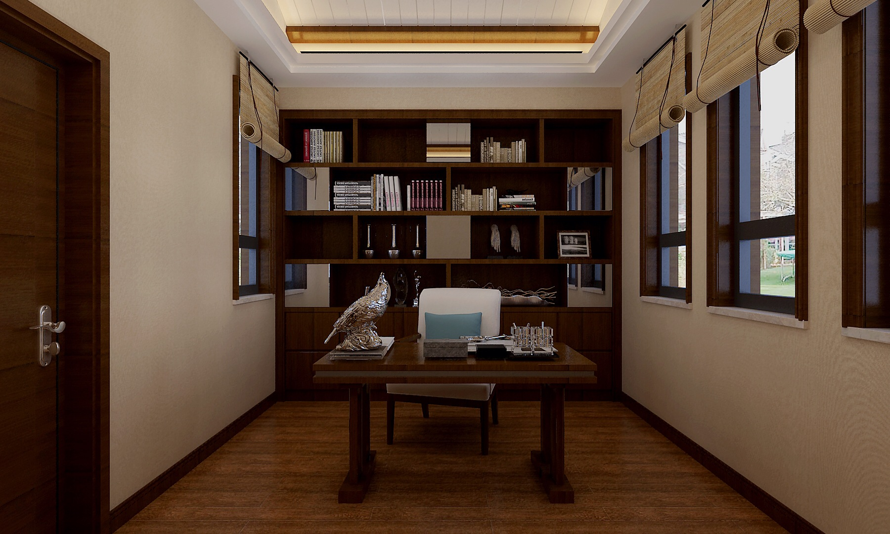 三居 别墅 书房图片来自武汉生活家在新中式风格的分享