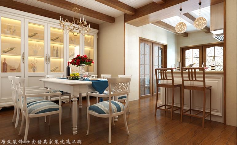 地中海 复式 餐厅图片来自杭州居众装饰集团设计院在凯德龙湾-地中海风格-243平的分享