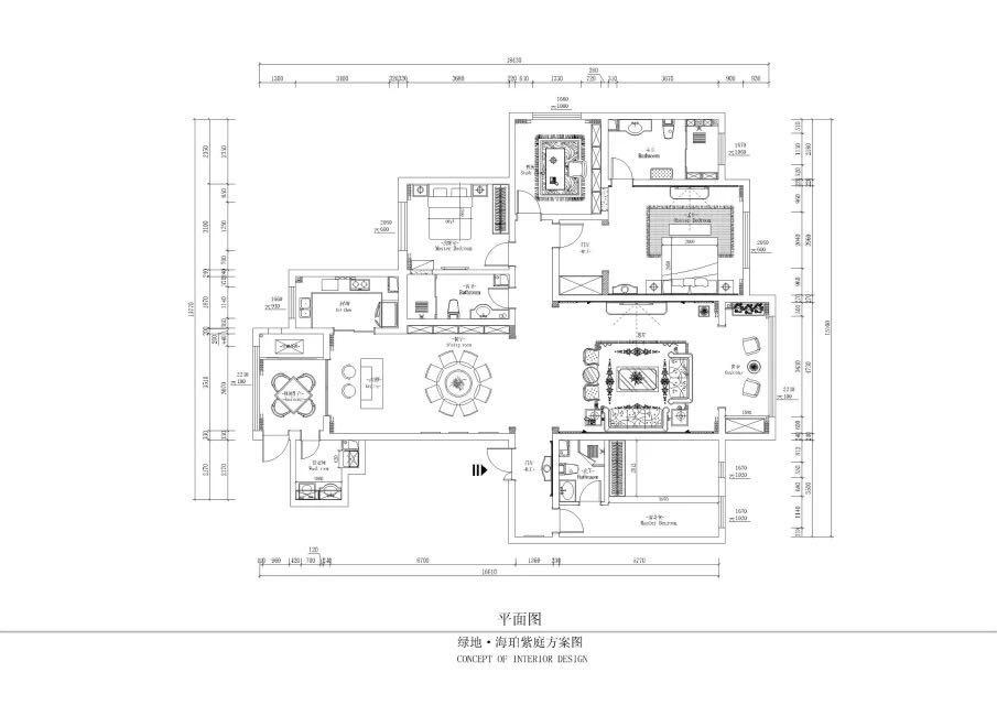 简约 欧式 田园 混搭 别墅 三居 白领 收纳 旧房改造 户型图图片来自日升装饰秋红在绿地海泊紫庭的分享