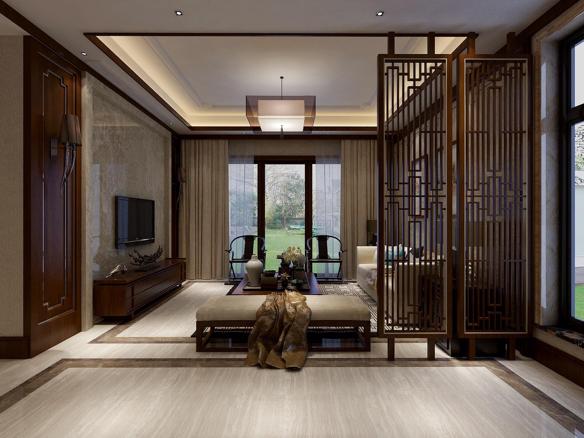三居 别墅 客厅图片来自武汉生活家在新中式风格的分享