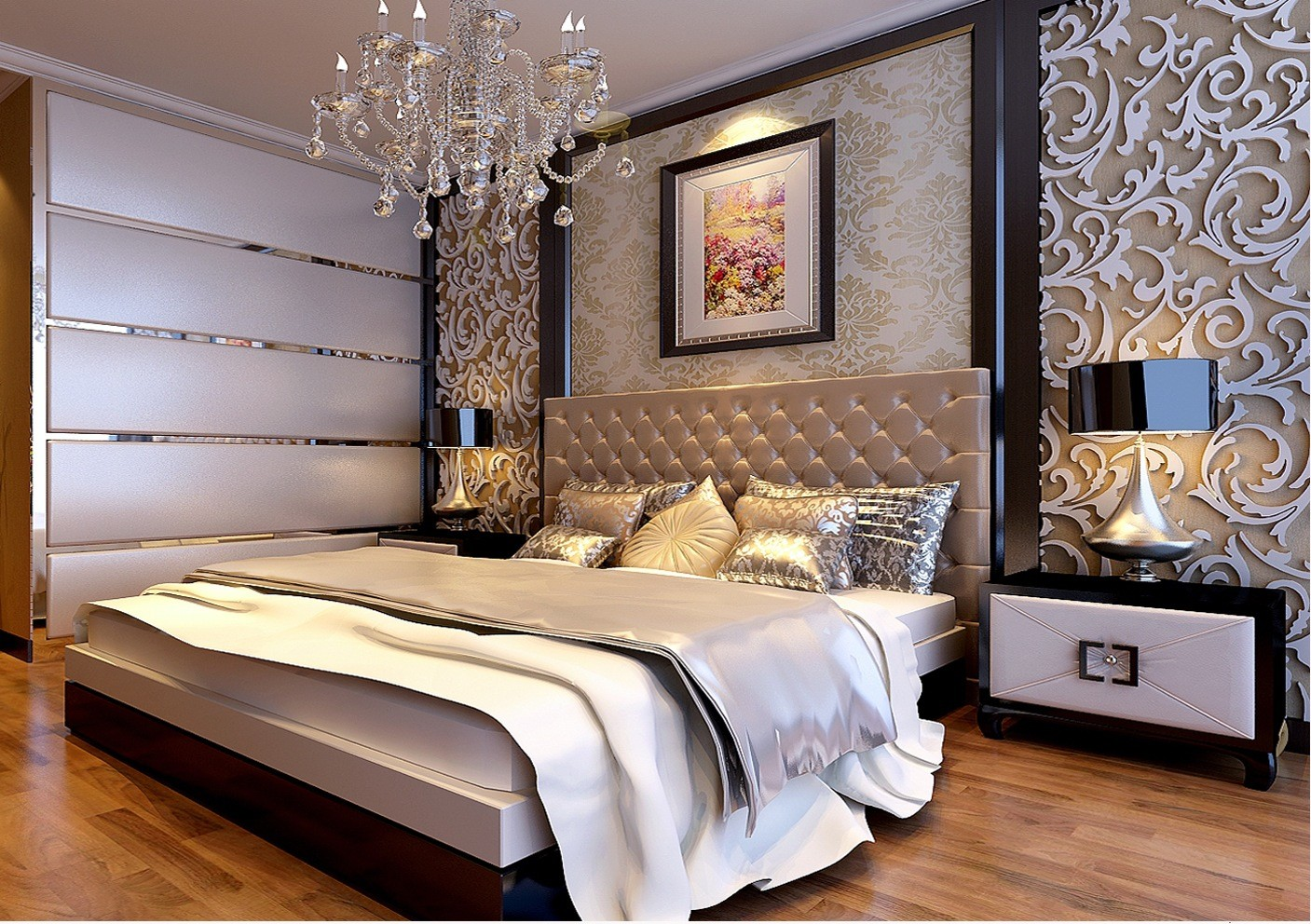 中式 卧室图片来自天津白天鹅装饰工程有限公司在路劲太阳城新中式的分享