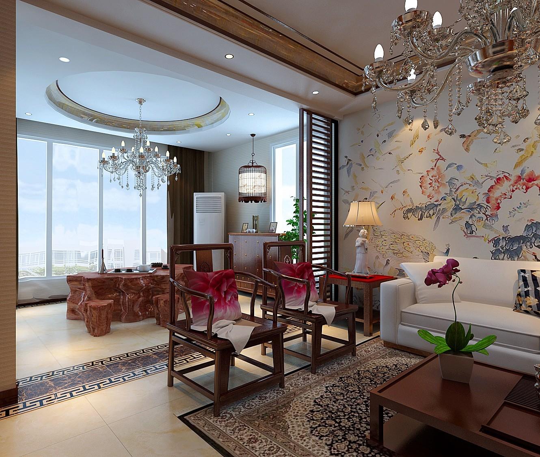 中式 客厅图片来自天津白天鹅装饰工程有限公司在路劲太阳城新中式的分享