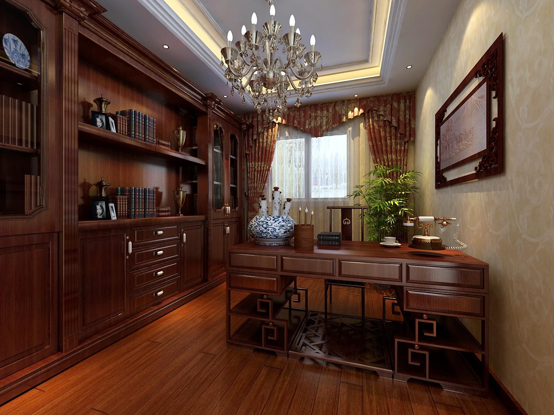 中式 书房图片来自天津白天鹅装饰工程有限公司在路劲太阳城新中式的分享