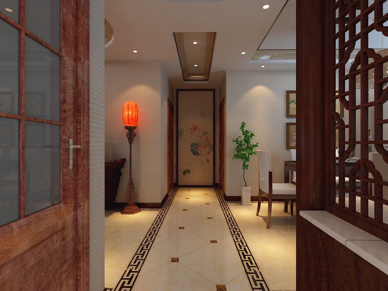 中式 玄关图片来自天津白天鹅装饰工程有限公司在路劲太阳城新中式的分享