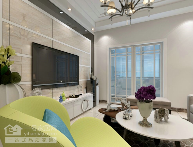 简约 三居 客厅图片来自武汉一号家居在观澜高尔夫公馆95平三室两厅简约的分享