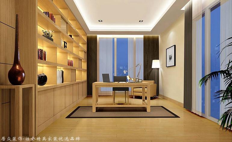 现代简约 别墅 书房图片来自杭州居众装饰集团设计院在昆仑府-现代简约-360平的分享