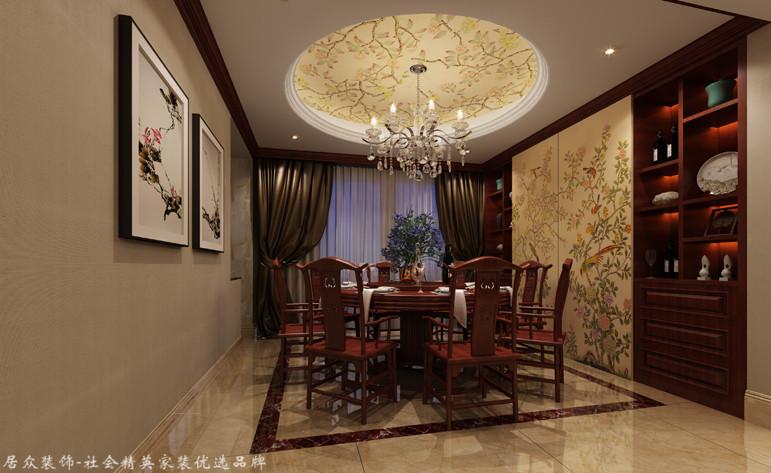 复式 中式 餐厅图片来自厦门居众装饰设计工程有限公司在当代天境-中式风格-220㎡的分享