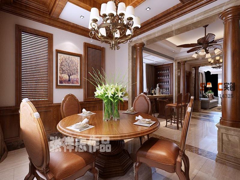 别墅 美式 龙湖滟澜海 实创 餐厅图片来自快乐彩在龙湖滟澜海岸260平别墅装修的分享