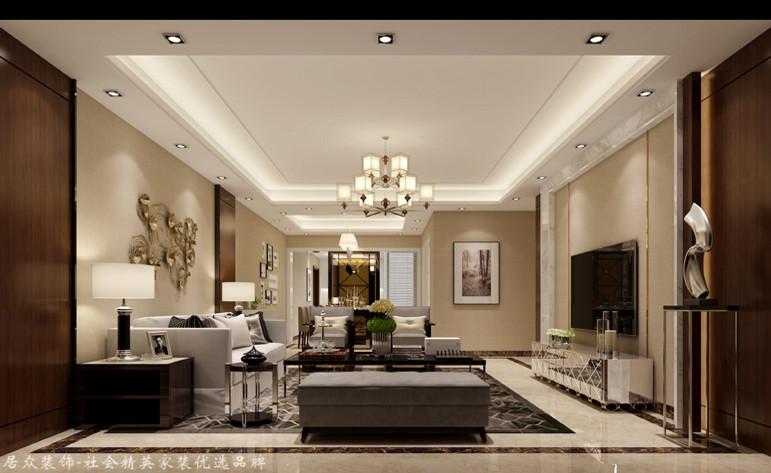 客厅图片来自昆明居众装饰设计工程有限公司在城星泽园-现代简约-146㎡的分享