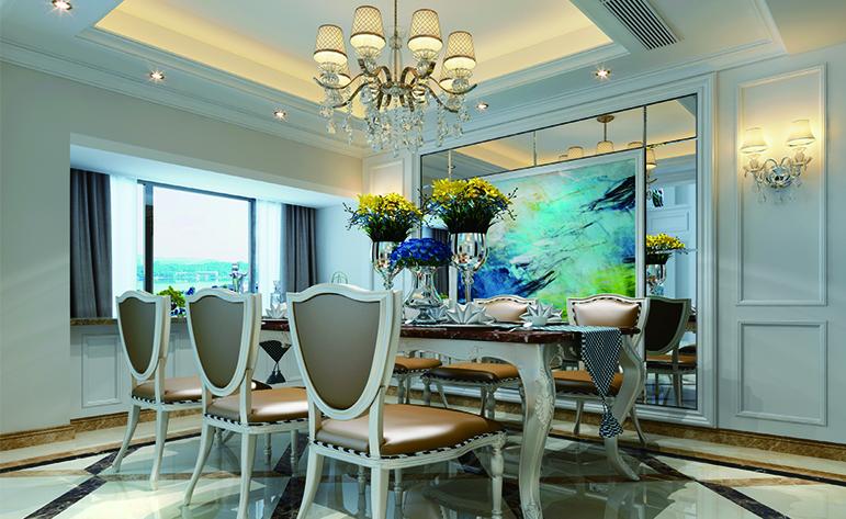 欧式 复式 餐厅图片来自厦门居众装饰设计工程有限公司在帝景苑-欧式风格-220㎡的分享