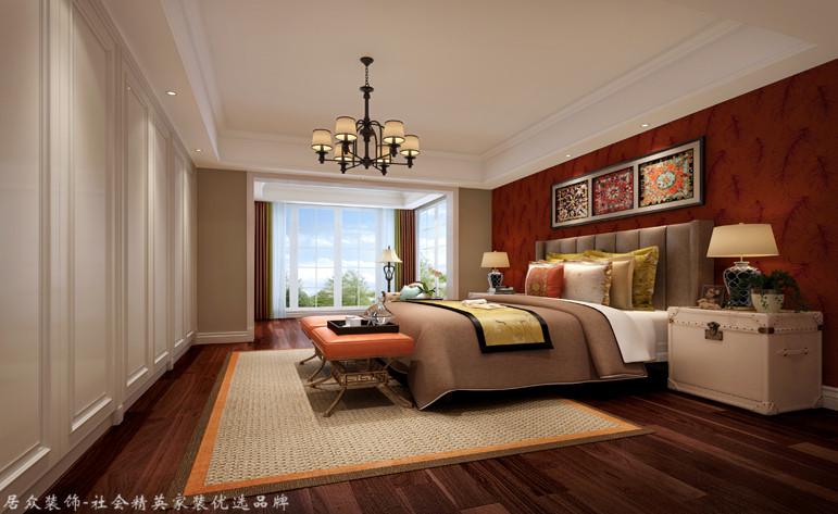 卧室图片来自昆明居众装饰设计工程有限公司在绿地海珀澜庭-美式风格-350㎡的分享