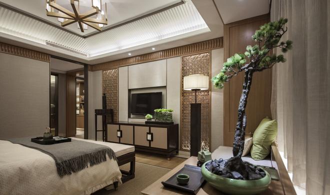 新中式 三居 中档装修 武汉装修 装修设计 卧室图片来自武汉苹果装饰在苹果装饰 清江山水的分享