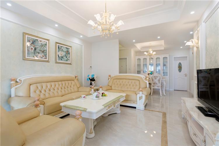 客厅图片来自西安福尚装饰家装体验馆在长安大街3号两室两厅装修效果图的分享