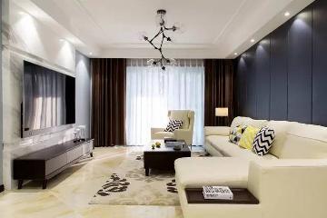 130平高端大气的现代简约三居室