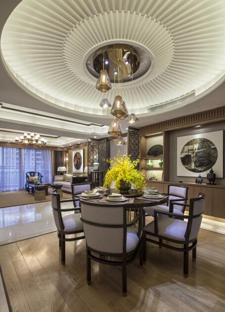 新中式 三居 中档装修 武汉装修 装修设计 餐厅图片来自武汉苹果装饰在苹果装饰 清江山水的分享