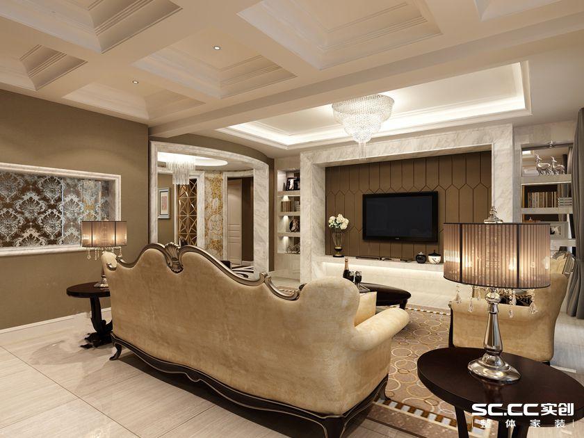 简约 别墅 客厅图片来自实创装饰上海公司在汇锦城欧式别墅210㎡装修案例的分享