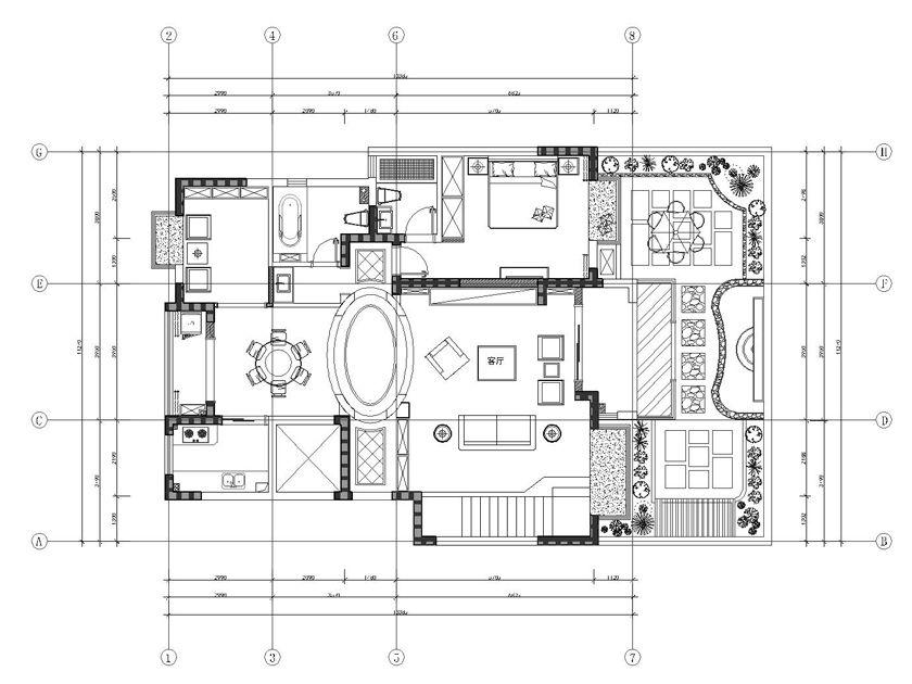 简约 别墅 户型图图片来自实创装饰上海公司在汇锦城欧式别墅210㎡装修案例的分享