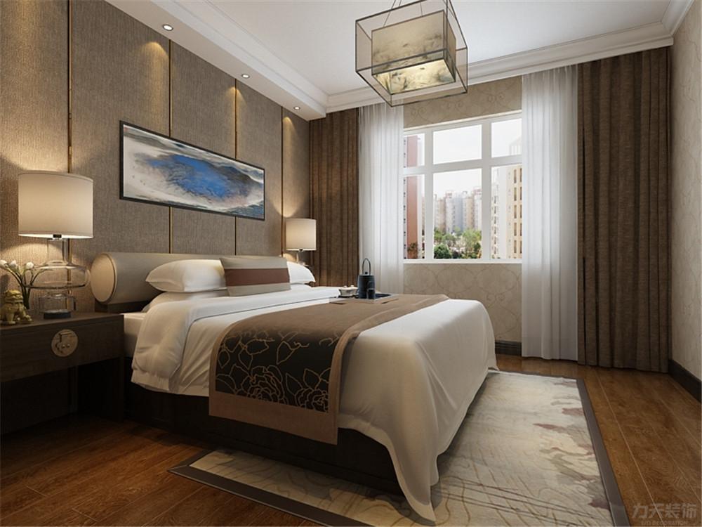 新中式 中式 三居 收纳 小资 卧室图片来自阳光力天装饰在新中式-金泰丽湾-120㎡的分享