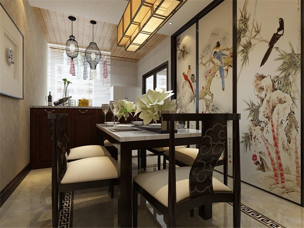 新中式 中式 三居 收纳 小资 餐厅图片来自阳光力天装饰在新中式-金泰丽湾-120㎡的分享