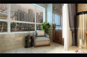 阳光100 装修效果图 中式 阳台图片来自济南城市人家装修公司-在阳光100新中式装修效果图的分享