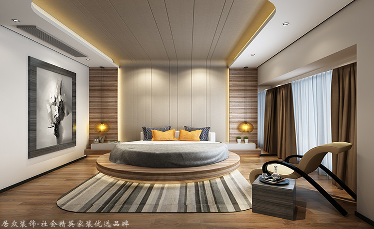 欧式 三居 卧室图片来自厦门居众装饰设计工程有限公司在大洲龙墅尚品-欧式风格-170㎡的分享