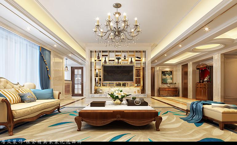 欧式 三居 客厅图片来自厦门居众装饰设计工程有限公司在大洲龙墅尚品-欧式风格-170㎡的分享