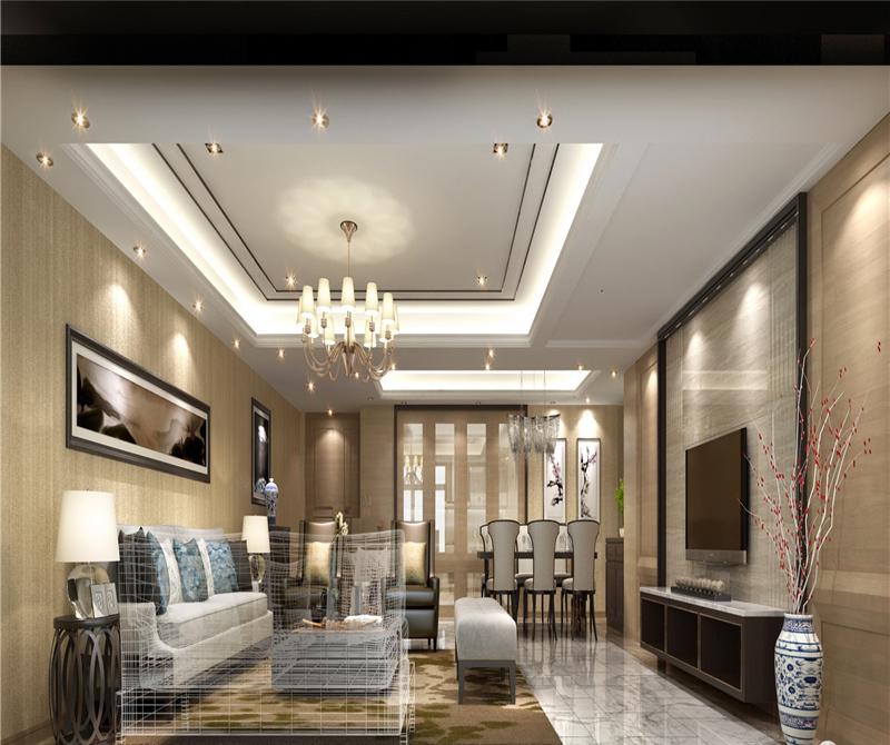 客厅图片来自天津科艺隆装饰在保利海棠湾—250㎡的分享