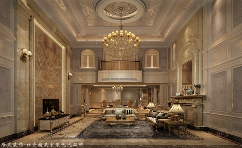 欧式 别墅 客厅图片来自厦门居众装饰设计工程有限公司在国贸金沙湾-欧式风格-260㎡的分享