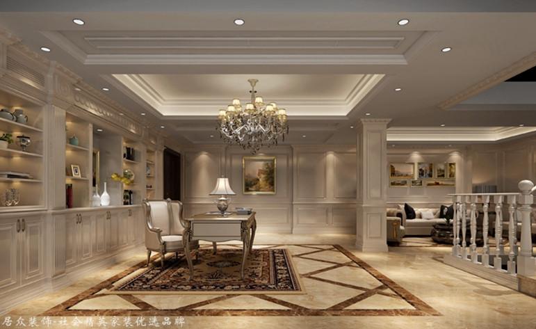 欧式 别墅 书房图片来自厦门居众装饰设计工程有限公司在国贸金沙湾-欧式风格-260㎡的分享
