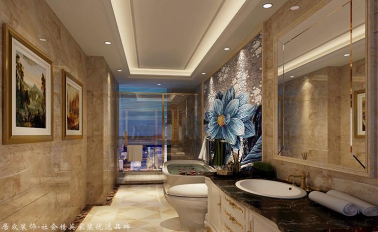 欧式 别墅 卫生间图片来自厦门居众装饰设计工程有限公司在国贸金沙湾-欧式风格-260㎡的分享