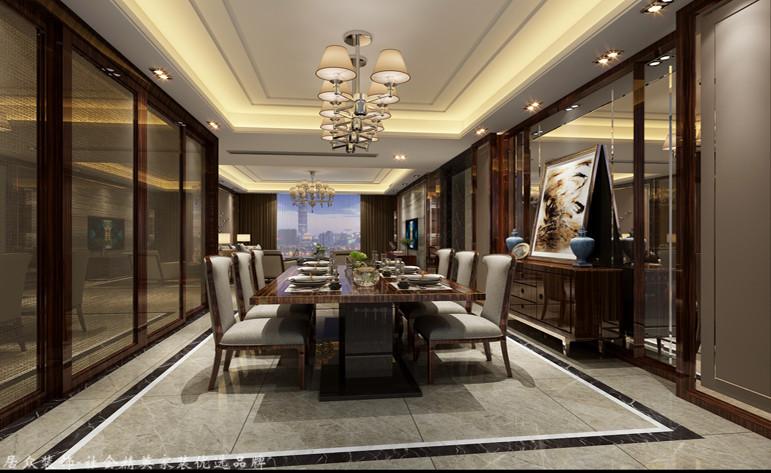 现代 四居 餐厅图片来自杭州居众装饰集团设计院在康城国际-现代风格-220平的分享