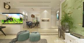 简约美式 三居 舒适 玄关图片来自青岛业之峰官方客服--小万在中航百合花园 129平 简美风格的分享