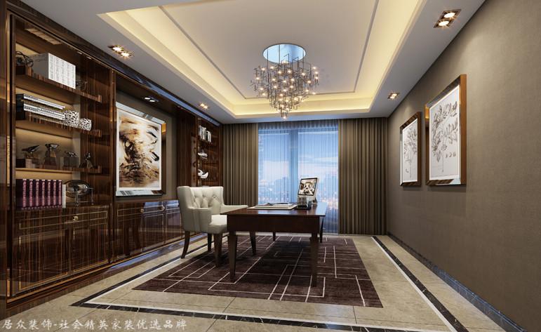 现代 四居 书房图片来自杭州居众装饰集团设计院在康城国际-现代风格-220平的分享