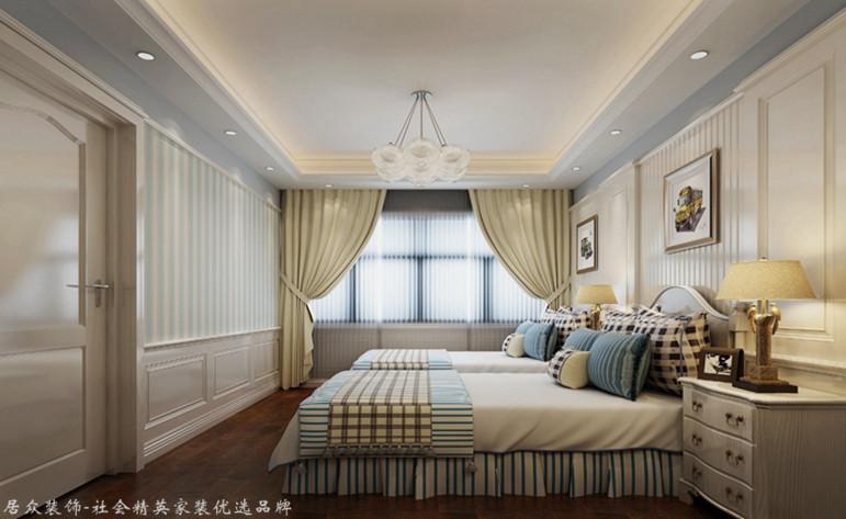 欧式 别墅 卧室图片来自厦门居众装饰设计工程有限公司在国贸金沙湾-欧式风格-260㎡的分享